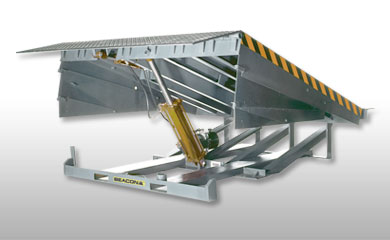 Dock Levelers - Loading Dock Levelers have capacities ranging up to 80,000 lbs. with special custom capacities available. These units compensate for height differences.