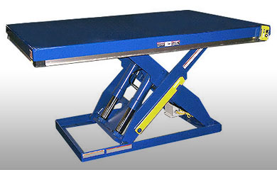The Scissor Lift raises materials to the ergonomically correct height to reduce worker strain and injury. Capacities of up to 100,000 lbs. are available.