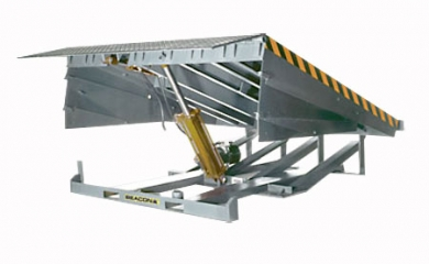 Loading Dock Leveler has capacities ranging from 25,000 up to 45,000 lbs.  These units are electric hydraulic operated to compensate for height differences.
