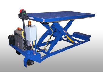 Portable Scissor Lift - Mobile Lift Tables are available with capacities up to 6,000 lbs. These are ergonomic tables for transporting and raising materials efficiently.