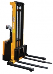 "Powered Hand Truck has adjustable fork sizes range from 2.25"" lowered to 115"