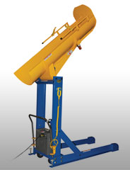 Drum Dumpers - Drum Lift and Dump facilitate the handling of drums and barrels. These units allow workers to ergonomically raise and dump heavy drums.