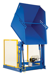 Hydraulic Box Dumpers - Container Dumper are designed with heavy duty welded steel construction. This series is capable of dumping containers up to 6,000 lbs.