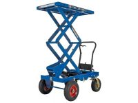 Lift Table With Air Tires for rough terrain